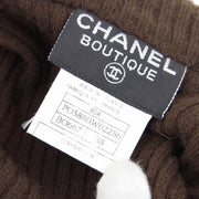 CHANEL 95A #38 One Piece Dress Tweed Brown Yellow