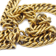 CHANEL Gold Chain Loupe Necklace