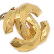 CHANEL Charm Earrings Gold 99P