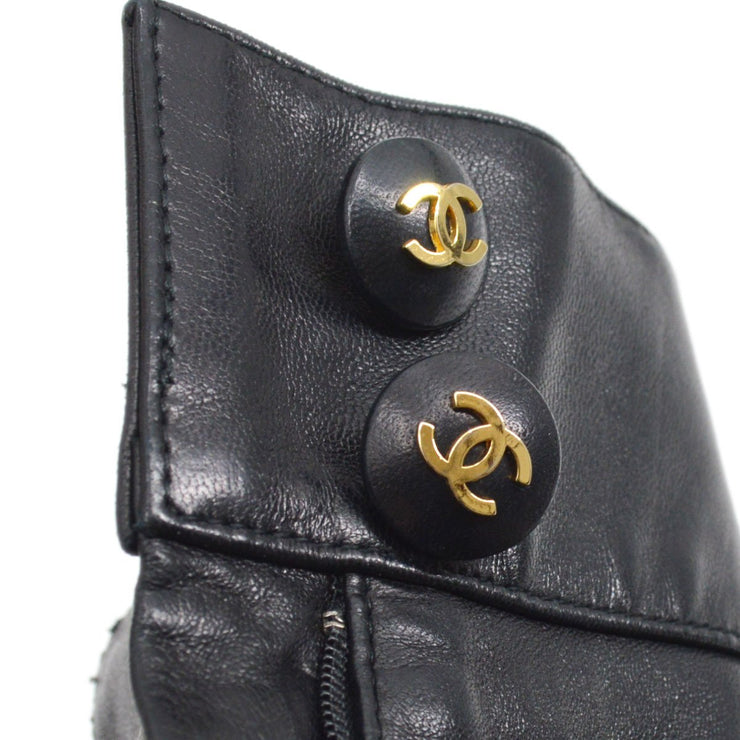 CHANEL 29 #36 Riders Pants Bottoms Black