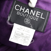 CHANEL 95A #42 Double Breasted Tweed Jacket Purple
