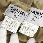 CHANEL 96P #38 Setup Jacket Pants Light Brown