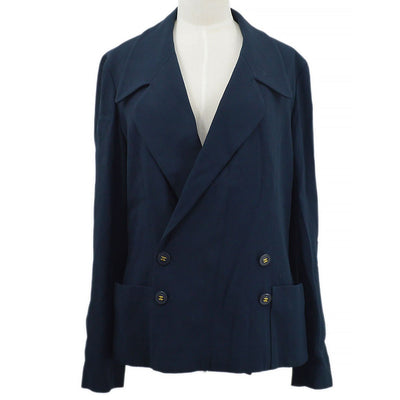 CHANEL 94P #40 Double Breasted Jacket Navy