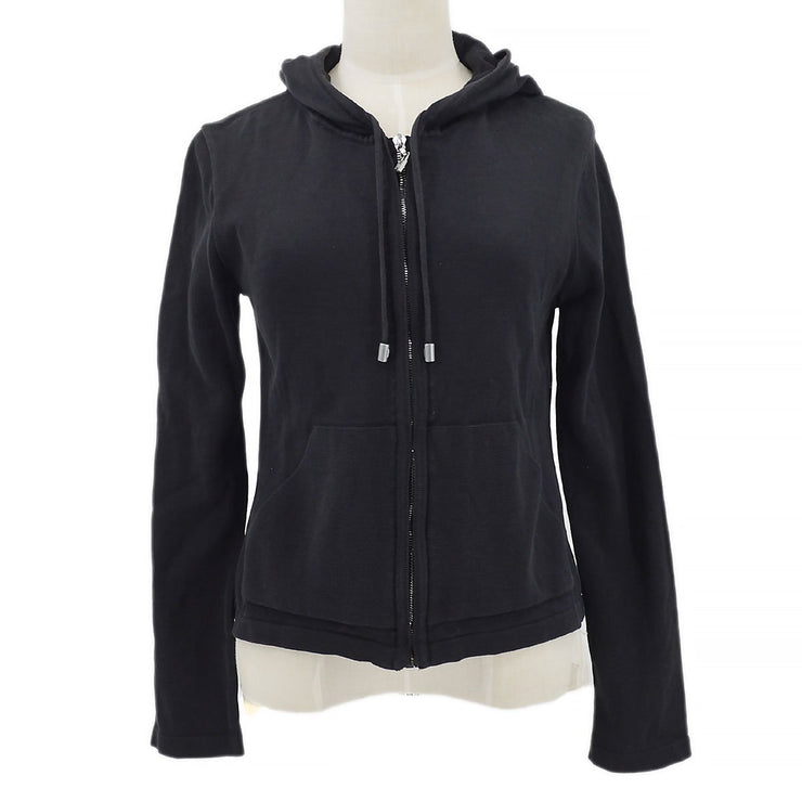 CHANEL 03A #38 Sports Line Zip-up Jacket Black
