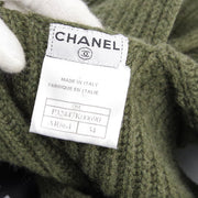 CHANEL 08C #34 Sleeveless One Piece Skirt Khaki