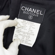 CHANEL 94A #38 Single Breasted Jacket Black