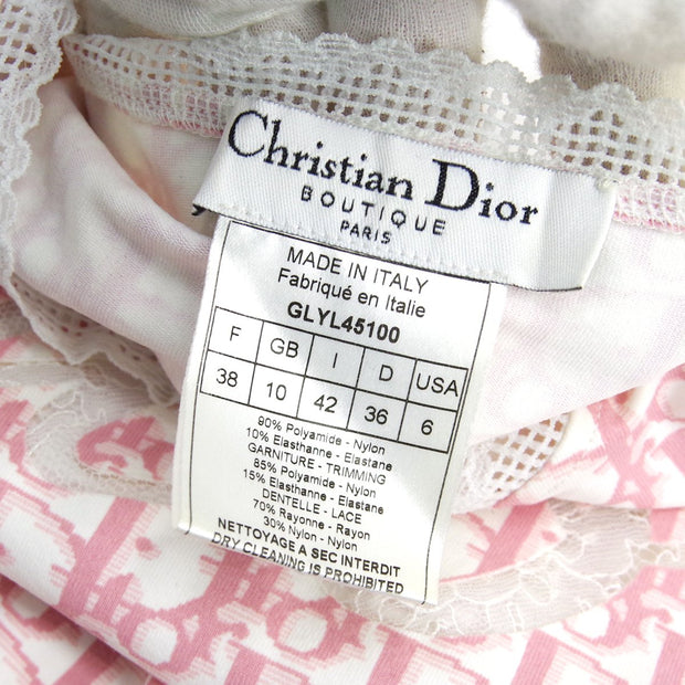 Christian Dior Trotter Long Sleeve T-Shirt Pink