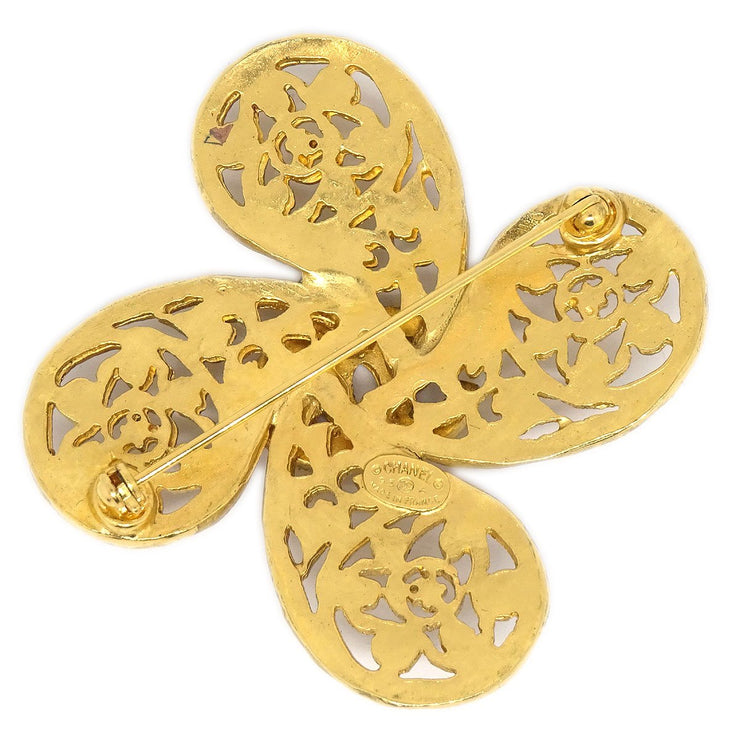 CHANEL Brooch Gold-Tone 95A
