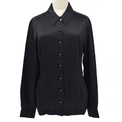 CHANEL Front opening Shirt Black