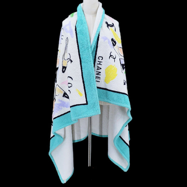 CHANEL Beach Towel Light Blue