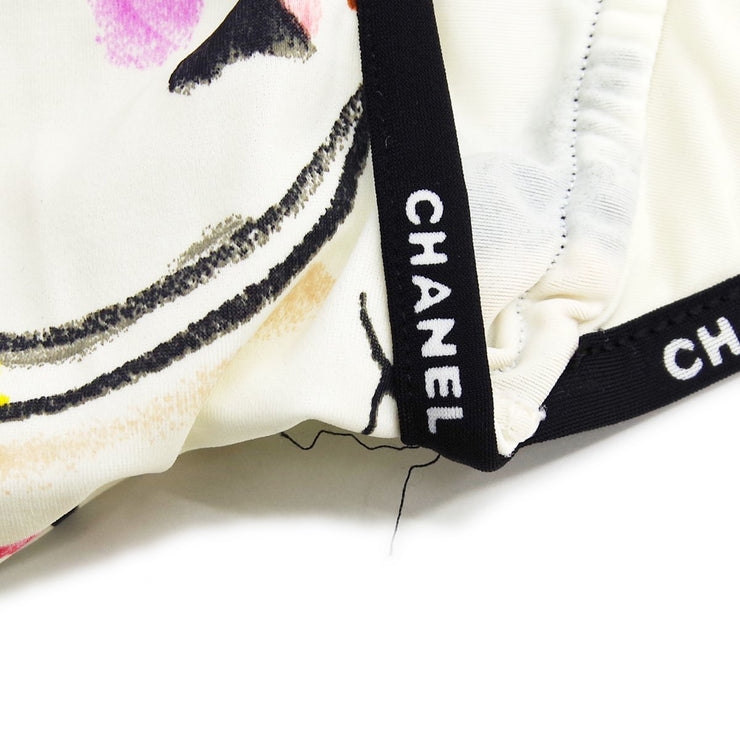 CHANEL #42 Halter Neck Dress Swimwear Swimsuit White