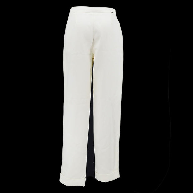 CHANEL 00T #38 Straight Pants White