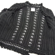 CHANEL 04P #38 Front Opening Cardigan Black