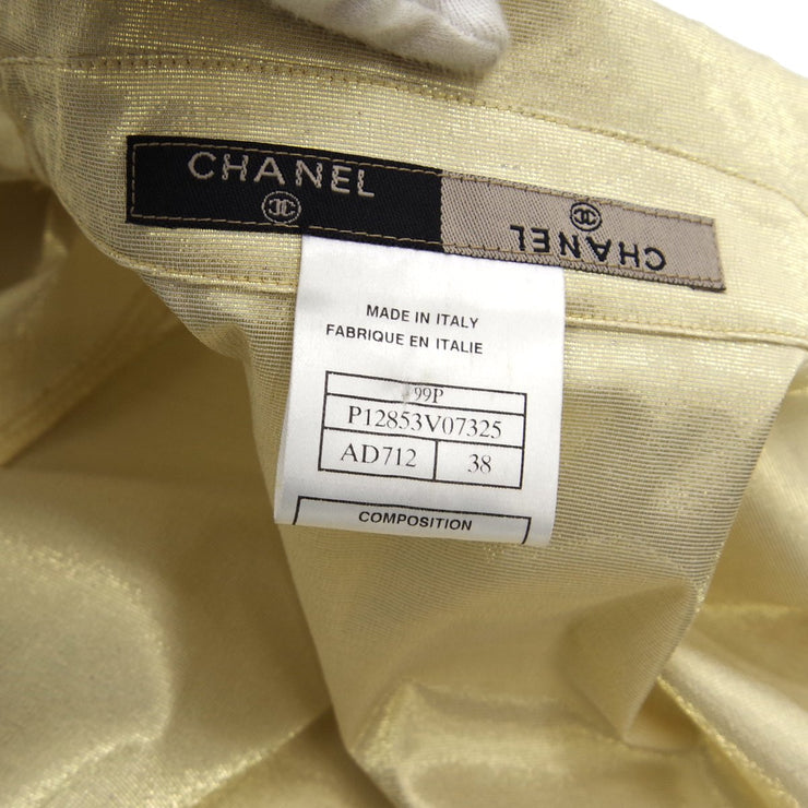 CHANEL 99P #38 Zip-up Jacket Gold