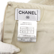 CHANEL 03A #38 Above The Knee Skirt Gray Black