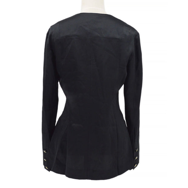 CHANEL 94A #38 Front opening Shirt Black