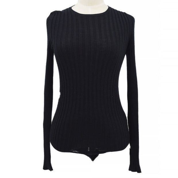 CHANEL 97A #42 Knit Leotard Black