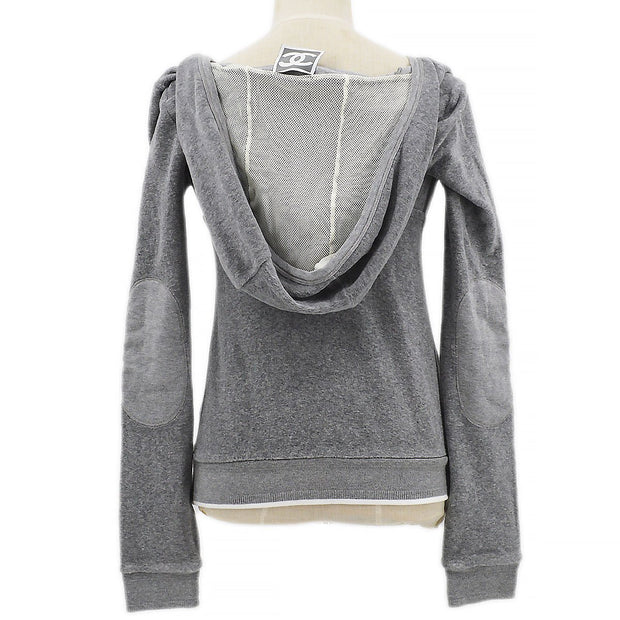 CHANEL 09C #36 Sport Line Hoodie Sweat Gray