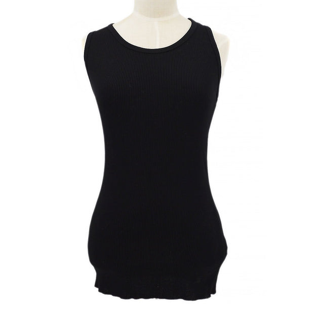CHANEL #38 Sleeveless Tops Tank Top Black