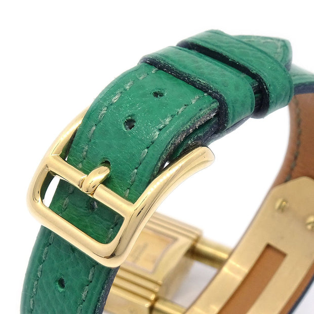 Hermes Kelly watch Ladies Quartz Wristwatch Watch Courchevel Green
