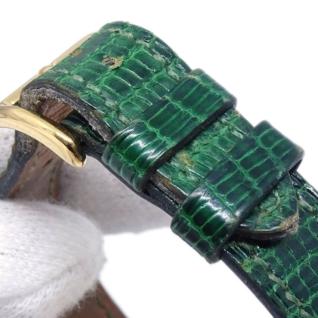 Hermes Kelly watch Ladies Quartz Wristwatch Watch Lizard Green
