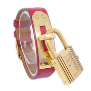 Hermes Kelly watch Ladies Quartz Wristwatch Watch Courchevel Red