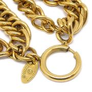 CHANEL Quilted Gold Chain Necklace 3795