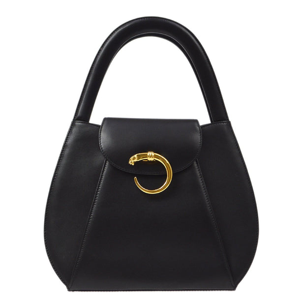 Cartier Panther Hobo Hand Bag Black