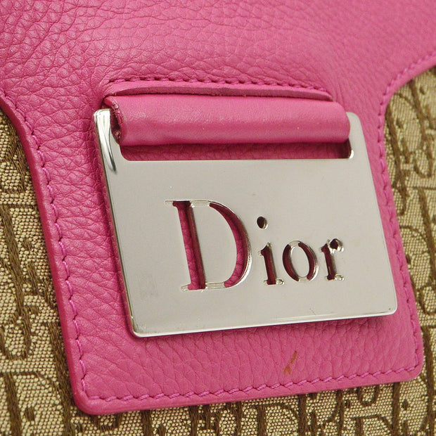 Christian Dior Street Chic Trotter Cross Body Shoulder Bag Pink Brown