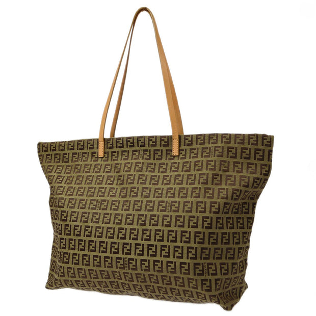 FENDI Zucchino ROLL BAG Shoulder Tote Bag Brown