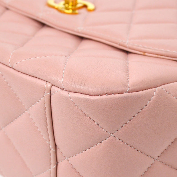 CHANEL Quilted Shoulder Bag Pink