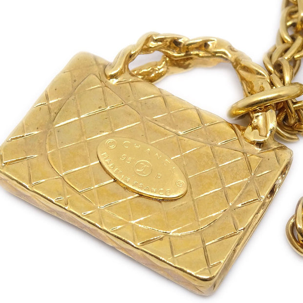 CHANEL Bag Gold Chain Necklace 95P