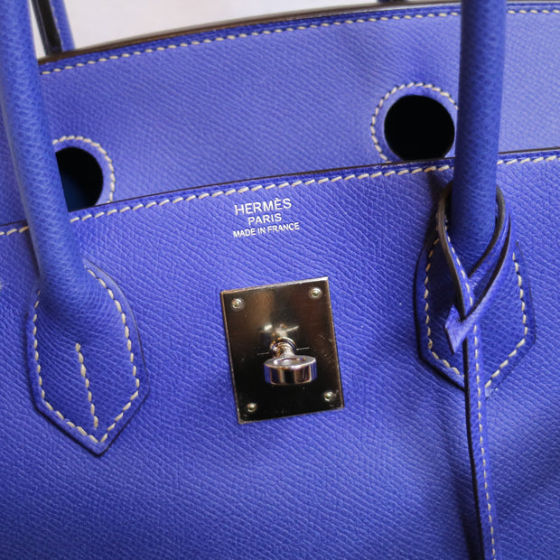 HERMES BIRKIN 30 Candy Collection Blue Electric Epsom