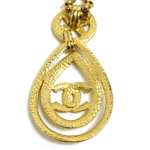 CHANEL CC Logos Chain Necklace Gold 96P