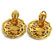 CHANEL CC Logos Earrings Gold