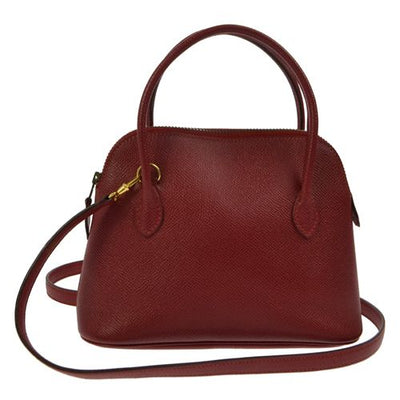 HERMES MINI BOLIDE Red Couchevel Pochette Hand Bag