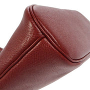 HERMES MINI BOLIDE Red Courchevel Pochette Hand Bag