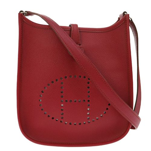HERMES Evelyne TPM Cross Body Shoulder Bag Bordeaux Courchevel