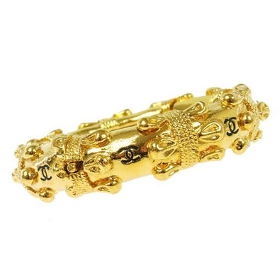 CHANEL CC Logos Bangle Gold