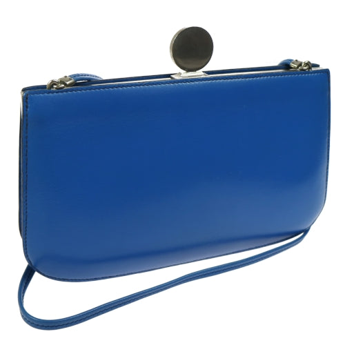 HERMES Sac A Malice Pochette Shoulder Bag Blue Box Calf