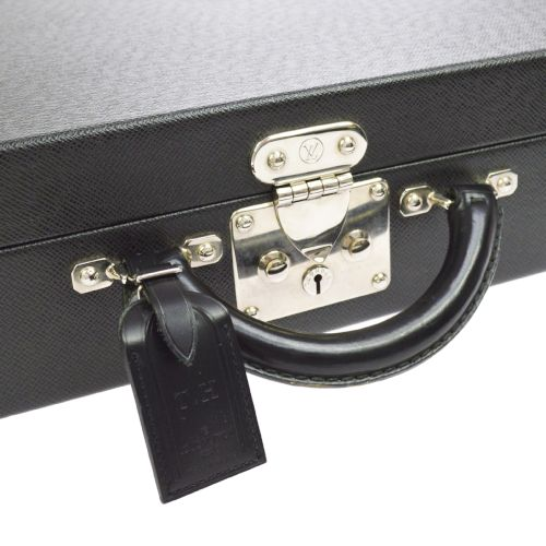 LOUIS VUITTON BISTEN 45 TRUNK HAND BAG HARD CASE BLACK TAIGA SP ORDER
