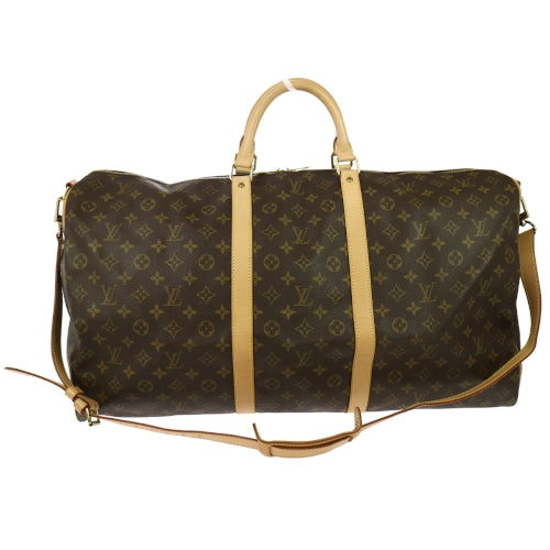 LOUIS VUITTON Keepall Bandouliere 60 2way Travel Hand Bag Monogram