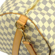 LOUIS VUITTON KEEPALL 55 BANDOULIERE TRAVEL HAND BAG DAMIER AZUR N41429