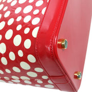 LOUIS VUITTON Lockit MM Hand Bag Vernis Dots Infinity M91423