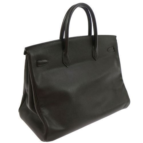 HERMES BIRKIN 40 Hand Bag Brown Courchevel Leather