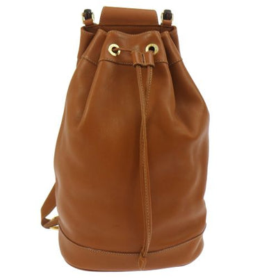 GUCCI Bamboo Line Drawstring Shoulder Bag Brown