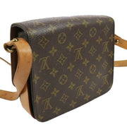 LOUIS VUITTON CARTOUCHIERE MM SHOULDER BAG MONOGRAM M51253