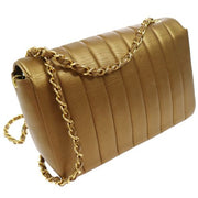 CHANEL Mademoiselle Classic Single Flap Medium Shoulder Bag Gold