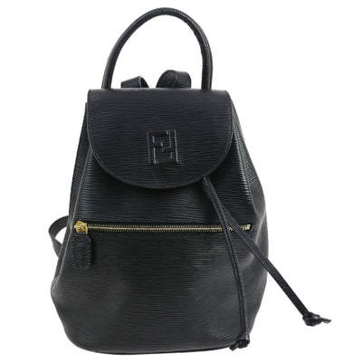 FENDI Logos Drawstring Backpack Black