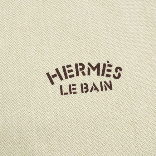 HERMES Le Bain Yachting Chevrons Drawstring Pouch Brown